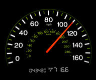 Speedometer - 110 MPH Stock Photography