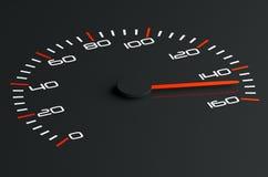 Speedometer. 3d illustration of black speedometer Royalty Free Stock Images