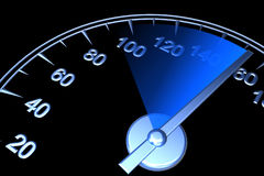 Speedometer. 3d render on black background Royalty Free Stock Image