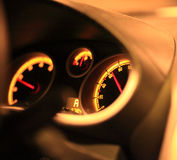 Speedometer. Close up of car speedometer Royalty Free Stock Photos