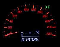 Speedometer. On dashboard in japan car Royalty Free Stock Images