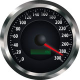 Speedometer. A vectorized speedometer on white background Royalty Free Stock Images