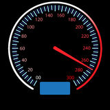 Speedometer. On black  art Royalty Free Stock Photography