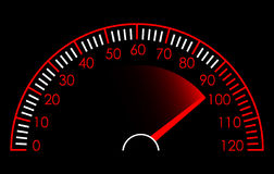 Speedometer. Vector illustration of Red and White Speedometer Royalty Free Stock Photo