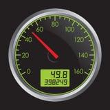 Speedometer. Vector Illustration of Speedometer on Black Background Stock Images
