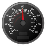 Speedometer. Vector illustration of a speedometer that is speeding to the Limit of the car vehicle Stock Photos