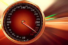 Speedometer. Abstract speedometer on gradient background vector illustration