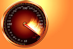 Speedometer. Abstract automobile speedometer shows great speed Stock Photos