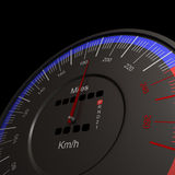 Speedometer. 3d image high quality Royalty Free Stock Images