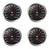 Speedometer. Illustration of speedometer on white background Stock Images