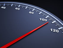 Speedometer. Close-up view of a speedometer Royalty Free Stock Photography