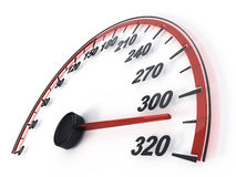 Speedometer. On white background - 3d render Royalty Free Stock Photo