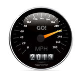 Speedometer with 2013 counter  Royalty Free Stock Images