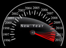 Speedometer. Countdown to New Year 2012 - Speedometer royalty free illustration