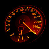 Speedometer. The danger of the maximum limit. Vector illustration Stock Image