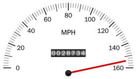 Speedometer. Vector illustration of a speedometer Stock Image
