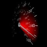 Speedometer. Illustration of the speedometer on dark background Stock Photo