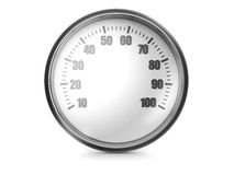 Speedometer. Modern car speedometer isolated on a white background Royalty Free Stock Image