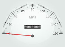 Speedometer. Vector illustration of a speedometer Royalty Free Stock Images