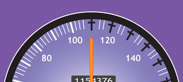 Speedometer. Royalty Free Stock Photo