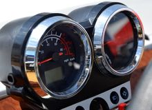 Speedometer. Car panel instrument speedometer and tachometer stock images