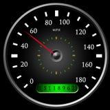 Speedometer royaltyfri illustrationer