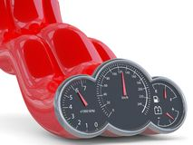 Speedometer. 3D model Royalty Free Stock Photo