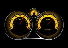 Speedometer. Illustration of a car speedometer Royalty Free Stock Image