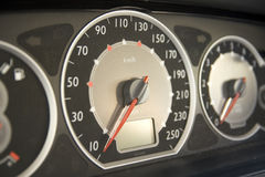 Speedometer. In a car dashboard Royalty Free Stock Photography