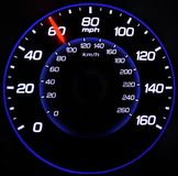 Speedometer at 60mph Stock Photography