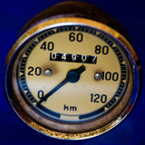 Speedometer. Detail of an old speedometer Royalty Free Stock Photography