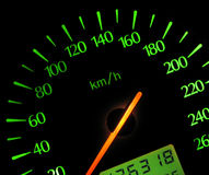 Speedometer. From a Ford Scorpio -95 Royalty Free Stock Photo