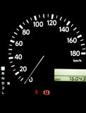 Speedometer. In car, fuel, black background, auto Royalty Free Stock Photography