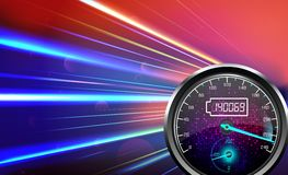 The speedometer abstract light color background Royalty Free Stock Photography
