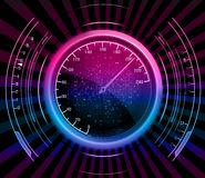 Speedometer abstract neon background Royalty Free Stock Photography