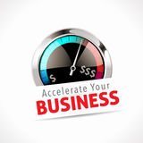 Speedometer - Accelerate Your Business Stock Image