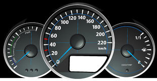 Speedometer. Accelerating Dashboard Royalty Free Stock Images