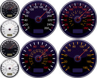 Speedometer American And European Royalty Free Stock Photography
