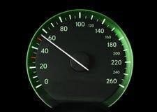 Speedometer av en bil Arkivfoto