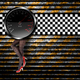 Speedometer background Royalty Free Stock Images