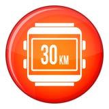 Speedometer bike icon, flat style Royalty Free Stock Photos