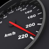 Speedometer black Royalty Free Stock Photo