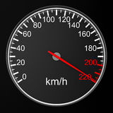 Speedometer on black background. 3D Stock Photography