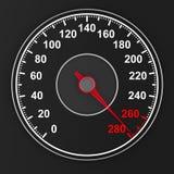 Speedometer on black background. 3D illustration Royalty Free Stock Images