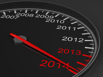 Speedometer on black background Stock Photos