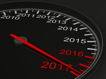 Speedometer on black background. 3D image Royalty Free Stock Image