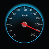 Speedometer on black background  Stock Photography