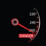 Speedometer on black background () Royalty Free Stock Image