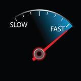 Speedometer on black background () Stock Photo