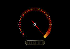 Speedometer on a black background Royalty Free Stock Photos